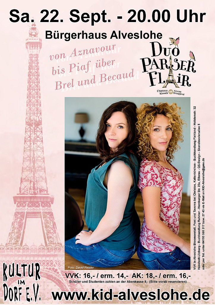 DUO Pariser Flair am 22. Sept. um 20.00 Uhr